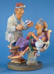 Zahnarzt Profisti Figur - Parastone Skulptur Zahnmedizin Comic Art