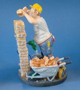 Skulptur Maurer Profisti Figur - Parastone Bauhandwerker