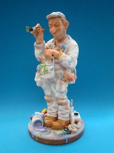 Skulptur Maler Profisti Figur Malermeister, Anstreicher - Parastone Comic Art