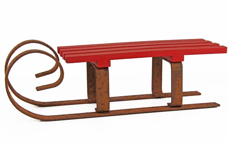 roter schlitten rostoptik dekoration traumflug online shop das geschenkeparadies. Black Bedroom Furniture Sets. Home Design Ideas