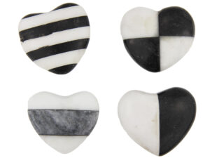 schwarz weiße Herzen - Handschmeichler Herz