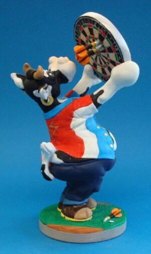 SO`VACHE Comic Art Tier Skulptur Sport Darts Sportkuh Parastone Skulptur sov06