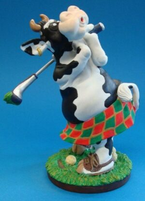 SO`VACHE Comic Art Tier Skulptur Golf Sportkuh Parastone Skulptur sov04