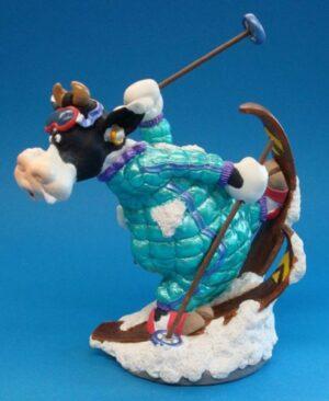Skulptur Ski - SO`VACHE Comic Art Tier Sportkuh Parastone Skulptur