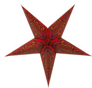 Stern Merkur Leuchtstern, Papierstern 60cm mit Zippverschluß - Leuchtmittel wählbar