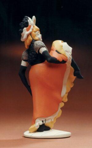 Toulouse-Lautrec Skulptur Tänzerin Jane Avril (La Mélinite) - Jugendstil Figur - Museum Skulptur