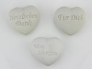 weißes Dekoherz matt - Herz mit Schriftzug Für Dich, Danke, Von Herzen